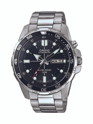 Casio Men's Super Illuminator Diver Analog Display Quartz Silver Watch