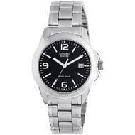 Casio Men's Stainless Steel Watch MTP1215A-1ACR Black Dial