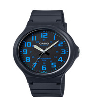 Casio Men's 'Easy To Read' Quartz Casual Watch MW240-2BV Black Blue
