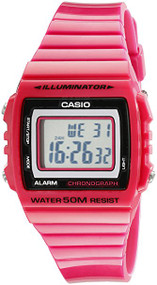 Casio Kids Classic Digital Stop Watch W215H-4A Pink
