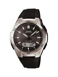 Casio Men's Wave Ceptor Ana-Digi Stainless Steel Bracelet Watch WVAM640-1A
