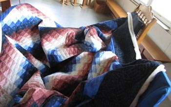 Bargello Sunshine Shadow Patchwork Quilt