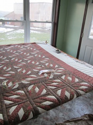 Amish Fannie Quilt in Frame