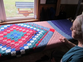 Anna Amish Quilter Sitting