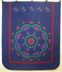 Amish Broken Star Dutch Colors Quilt 93x108