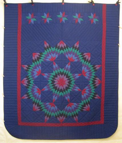 Amish Broken Star Dutch Colors Quilt 93x108