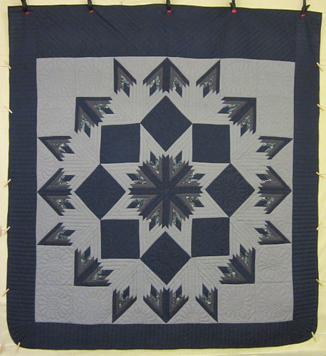 Broken Mineral Star Amish Quilt 104x114