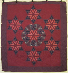 Fan Star Patchwork Amish Quilt 106x113