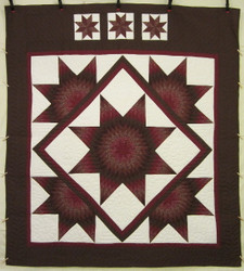 Celestial Earth Star Patchwork Amish Quilt 102x114