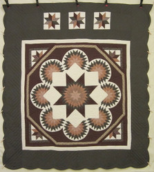 Star Split Compass Amish Quilt 105x114