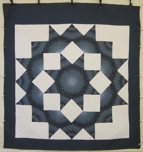 Broken Star Patchwork Amish Quilt 107x115