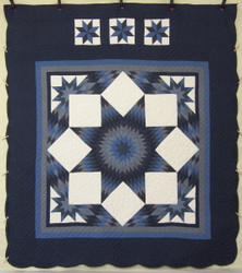 Diamond Star Patchwork Amish Quilt 102x115