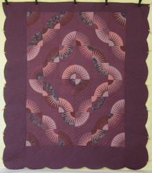 Kaleidoscope Fan Star Patchwork Amish Quilt 101x115