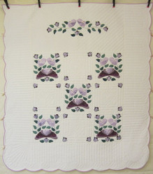 Country Bride Applique Amish Quilt 96x109