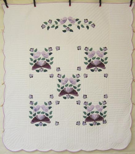 Country Bride Applique Amish Quilt 96x109