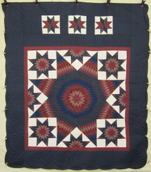 Star in Star Patchwork Quilt 100 x 115