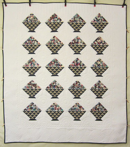 Cherry Basket Patchwork Amish Quilt  95x107