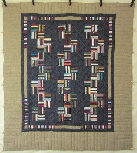 Rail Fence Patchwork Amish Quilt 93x103
