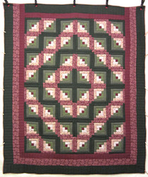 Log Cabin Quilting Bee Patchwork Amish Quilt  95x111
