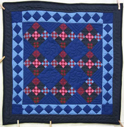 Amish Miniature Nine Patch in Nine Patchwork Quilt Wall Hanging