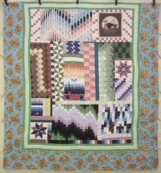 Sunny Scrap Patchwork Quilting Bee Amish Quilt 98x106