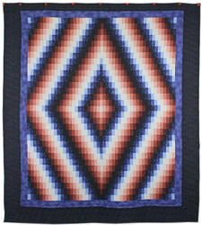 Bargello Sunshine Shadow Amish Quilt 101x114