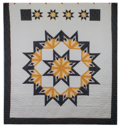Shimmering Midnight Stars Amish Patchwork Quilt 101x106