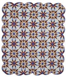 Wedding Ring Star Amish Patchwork Queen Quilt & Pillow Shams 96x109