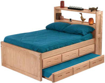 Crate Designs Captain's Bookcase Bed