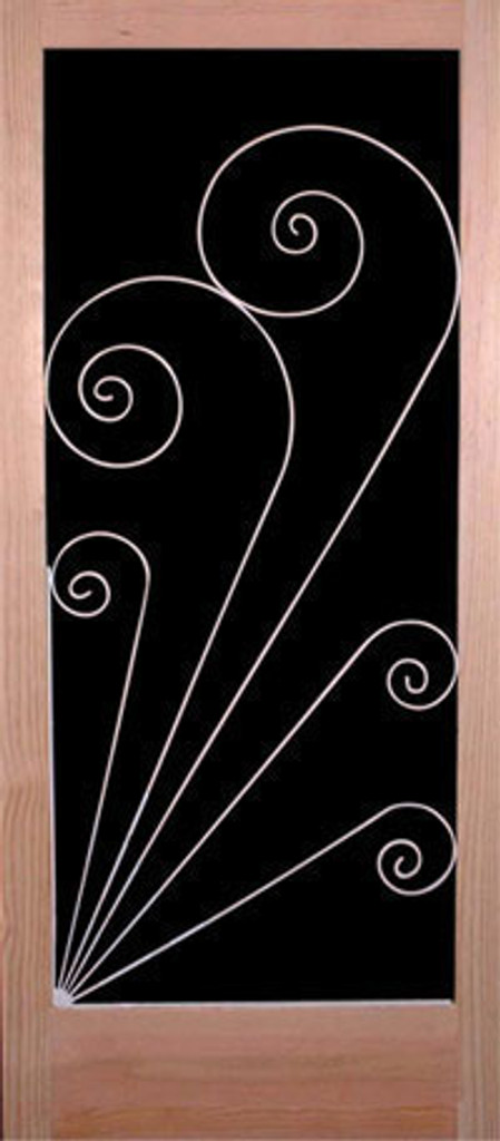 Vintage Style Screen Door Insert