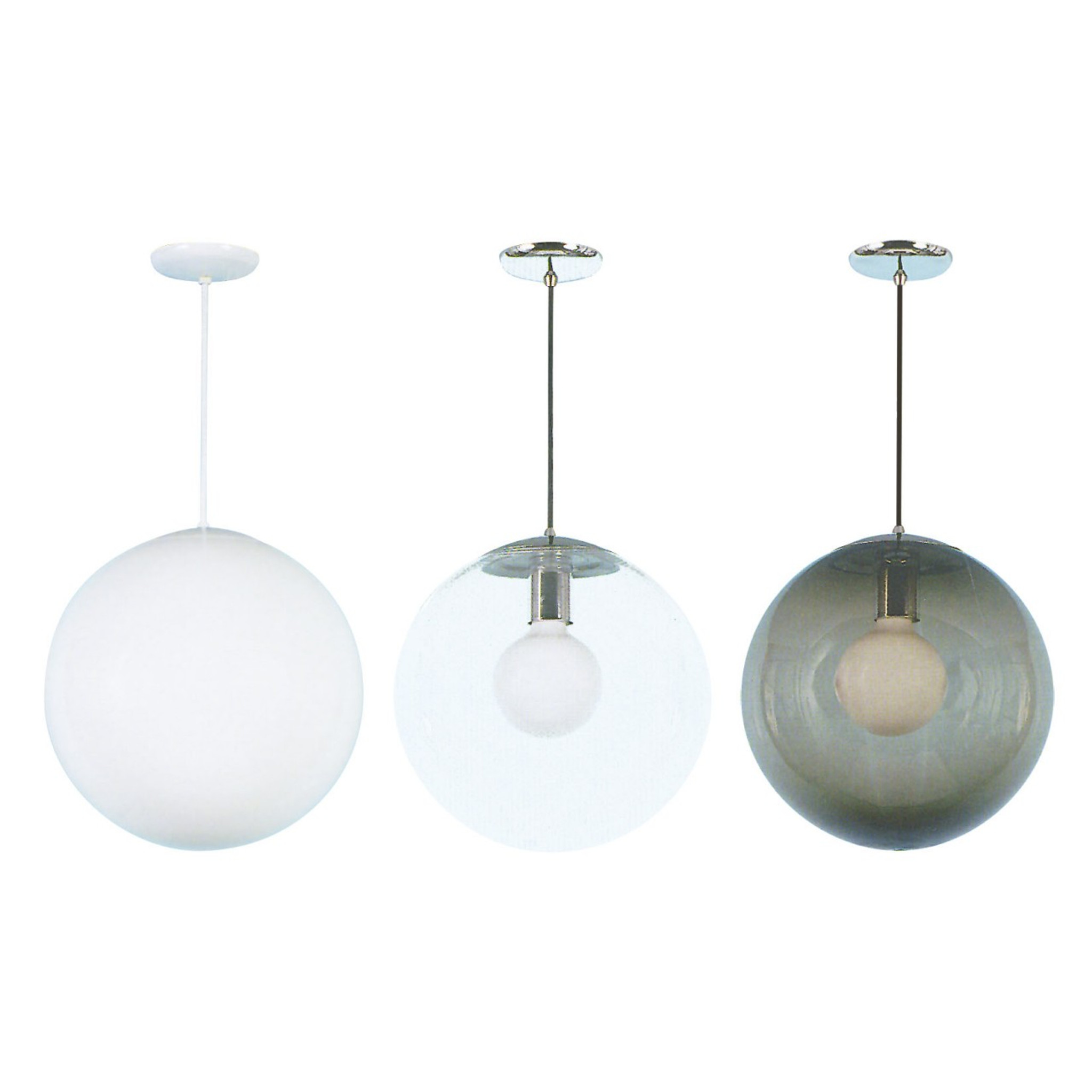 sixteen inch globe pendant  hip haven - globe pendant color options