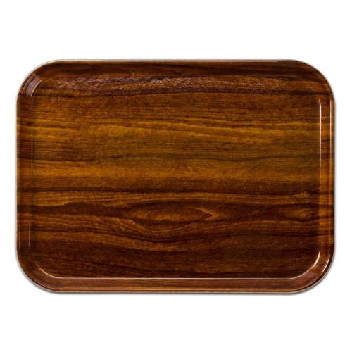 teak look serving tray