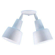 Double Tiered-shade Ceiling Fixture