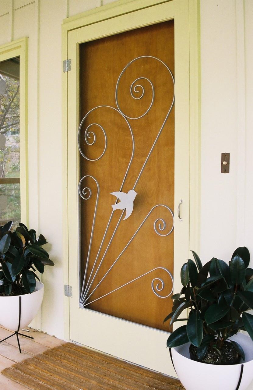Vintage style screen door insert hip haven for Storm door screen insert