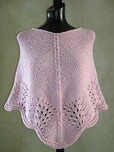 #28 Scalloped Edge Poncho PDF Knitting Pattern