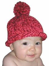 #24 Pom Pom Hat  PDF Knitting Pattern