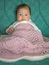 knitting pattern photo for #16 Chunky Knit Baby Blanket PDF Knitting Pattern