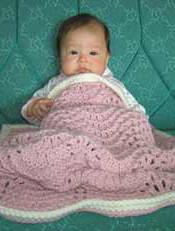 knitting pattern photo for #16 Chunky Knit Baby Blanket PDF Knitting Pattern