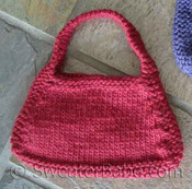 knitting pattern photo for #19 Hip Knit Purse PDF Knitting Pattern