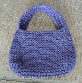 knitting pattern photo for #20 Chunky Mini Purse PDF Knitting Pattern