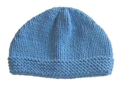 Easy baby hat knitting pattern « KnitnScribble