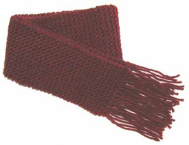 knitting pattern photo for #18 Easy Fringed Scarf PDF Knitting Pattern
