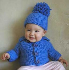 knitting pattern photo for #01 Chunky Baby Cardigan PDF Knitting Pattern
