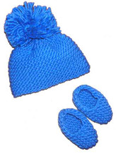 knitting pattern photo for #02 Chunky Baby Hat and Booties PDF Knitting Pattern