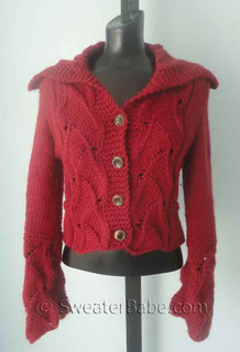 knitting pattern photo for #38 Fabulous Lace inset Cardigan PDF Knitting Pattern