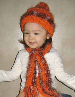 knitting pattern photo for #54 Sweet Baby Hat and Scarf Set Knitting Pattern