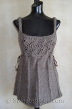 knitting pattern photo of #64 Romantic Cable and Lace Vest Knitting Pattern