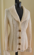 knitting pattern photo of #63 Charming Shawl-Collared Cardigan Knitting Pattern