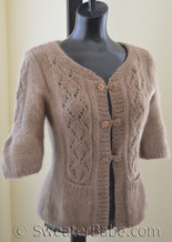 #70 Lush and Lacy Cardigan PDF Knitting Pattern