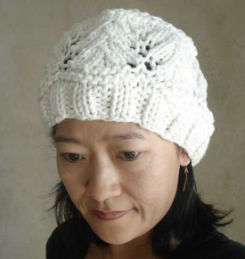 photo of #78 Vine Lace Hat PDF Knitting Pattern